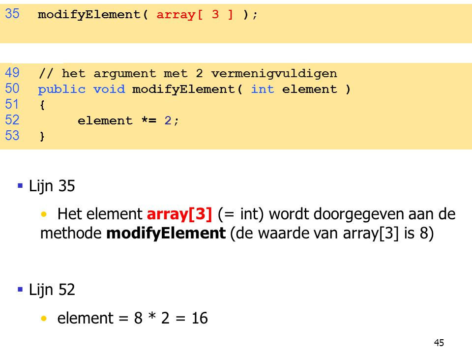 35 modifyElement( array[ 3 ] );